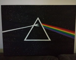 Quadro Pink Floyd Dark Side of The Moon 50x60 tinta acrílica