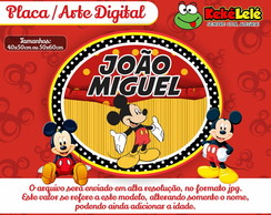 Placa Mickey - Arte Digital