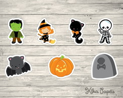 150 Apliques Halloween Mod2 3,5 cm Tags Toppers