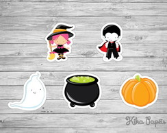 150 Apliques Halloween Mod3 3,5 cm Tags Toppers
