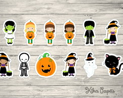 150 Apliques Halloween Party 3,5 cm Tags Toppers