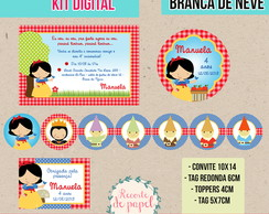 Kit Digital - Festa Branca de Neve