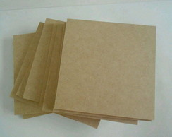 Kit 25 Placas em mdf cru 20x20 3mm