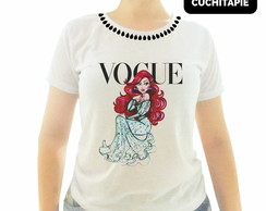 Baby look Customizada - Vogue - A pequena Sereia