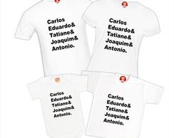 a24f1e8a9 ... Camisetas Personalizadas Com Nome Família