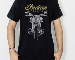 Camiseta Masculina Indian Motorcycle Rock Metal Motociclismo