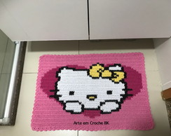 tapete hello kitty no elo7 arte em croche bk 33dc69. Black Bedroom Furniture Sets. Home Design Ideas