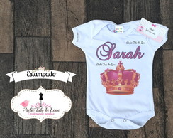 Body PRINCESA personalizado ESTAMPADO