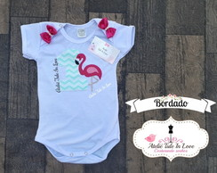 Body flamingo personalizado BORDADO