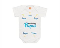 Body de Bebê Manual do Papai Personalizado