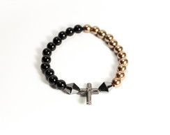 Pulseira Masculina Cruz empire