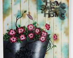 Quadro Decorativo - Flores Home Sweet Home