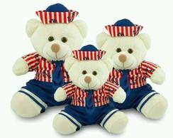 Urso Marinheiro de Pelucia Trio Pelucia Marrom  cf893484a3e2e