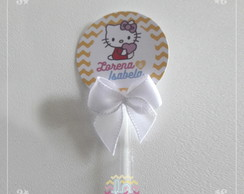 Topper para doces ou cupcake Hello Kitty 3cm