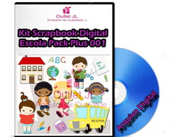 Ultra Pack Scrapbook Digital - Escola - Plus 001