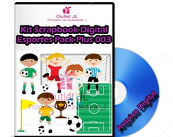 Ultra Pack Scrapbook Digital - Esportes - Plus 003