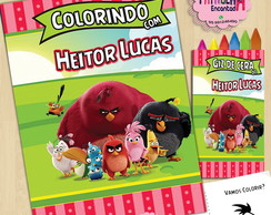 Kit de colorir Giz de cera Angry Birds