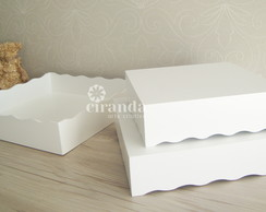 Trio Bandejas Lisa Mdf Decoracao Festa Doces