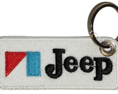 Chaveiro Patch Bordado - Logo Vintage Jeep AD30059