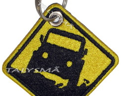 Chaveiro Patch Bordado - Placa Trilha Off Road AD30070