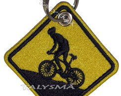 Chaveiro Patch Bordado - Placa Mountain Bike Brasil AD30074