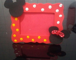 Lembrancinha Porta Retrato Minnie e Mickey de EVA Cod. mm1