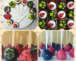 kit doces tema miraculous / lady bug