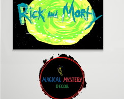 Placa Decorativa - Rick and Morty