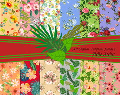 Kit Digital - Tropical Floral 1