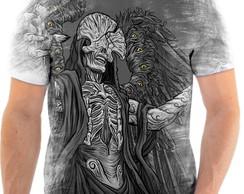 ... Camisa Camiseta Personalizada Anjo Da Morte Caveira 1 c809bb02507b7