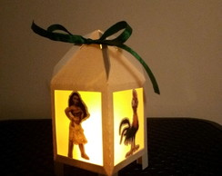 Lanterninha Moana com vela led