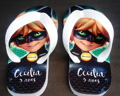 Chinelo Infantil Cat Noir