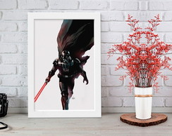 Quadro com Moldura Star Wars Darth Vader
