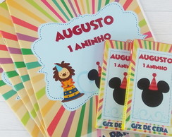 Kit de colorir Circo mickey
