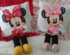 Almofadas Decorativas Infantil Personagens Perninhas Minnie
