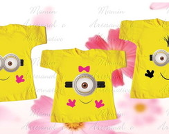 kit 3 Camisetas Divertida Minions