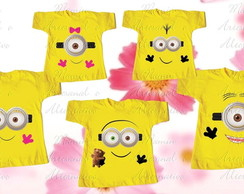 kit 5 Camisetas Divertida Minions