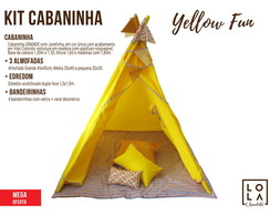 Kit Cabaninha - Yellow Fun