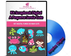 Kit Scrapbook Digital - A Pequena Sereia Cute