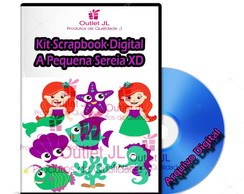 Kit Scrapbook Digital - A Pequena Sereia XD