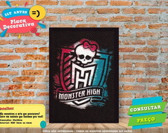 Placa Decorativa - Monster High- REF0136
