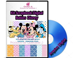 Mega Pack Scrapbook Digital - Baby Babies Disney