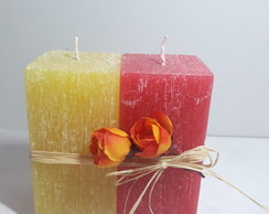 Kit 2 velas quadradas