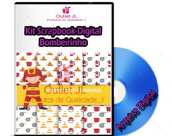 Kit Scrapbook Digital - Bombeirinho
