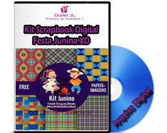 Kit Scrapbook Digital - Festa Junina XD