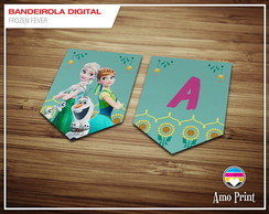Bandeirola Digital Frozen Fever