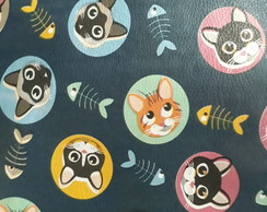 PVC estampado - gatos