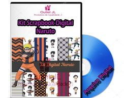 Mega Pack Scrapbook Digital - Naruto