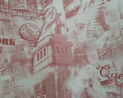 PVC estampado - londres rose