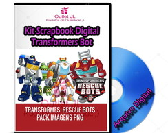 Kit Scrapbook Digital - Transformers Rescue Bots